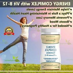 Energy Complex Gummies w/ Vitamin B-12 Memory Fatigue Energy