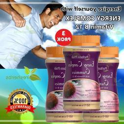 Energy Complex Vitamin B-12 Fatigue Arthritis Mood Sleep Sup