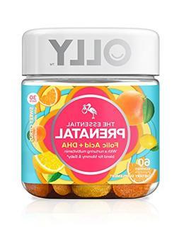 OLLY Essential Prenatal Multi-Vitamin, Vibrant Citrus, 60 Co
