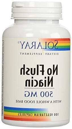No Flush Niacin, 500 mg, 100 Veg. Capsules