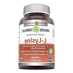 Amazing Nutrition Amazing Formulas L-Lysine - 1000mg Amino A