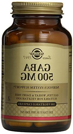 Solgar Gaba Vegetable Capsules, 500 mg, 100 Count
