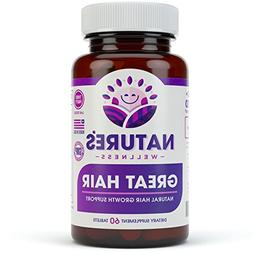 Great Hair Supplement - Natural Hair Growth Vitamins for Hea