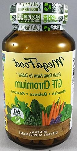 MegaFood GTF Chromium - Mineral Dietary Supplement - 60 Tabl