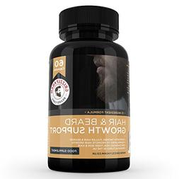 GRIZZLY ADAM Hair and Beard Growth Supplement - Vitamins For