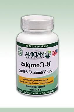 Madina Vitamins - Halal B Complex with Vitamin C 300mg  by M