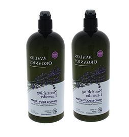 Avalon Organics Hand & Body Lotion, Nourishing Lavender 32 o