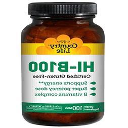 COUNTRY LIFE Vitamins HI-B Complex,100 MG,TR, 100 TAB
