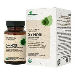 Futurebiotics Organic Iron + Vitamin C, 90 Vegetarian Tablet