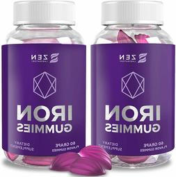 Iron Gummies with Vitamin C, A for Women Prenatal Vitamins B