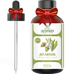 Jojoba Oil - 100% Pure and Organic - 4 Oz. with Glass Droppe
