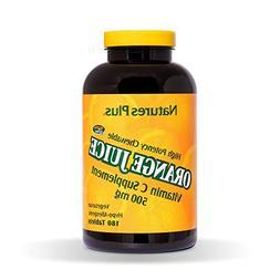 Nature's Plus - Orange Juice C 500 Mg Chewable 180