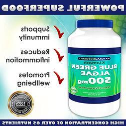 Klamath Blue Green Algae 500mg, Nutrient Rich Superfood, Mor