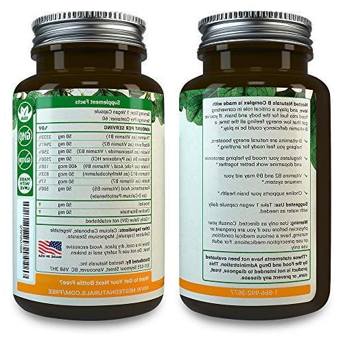 All 8 B-Complex Plus   60   Multi B Methyl Folic 400mcg Best Complex Supplement for &