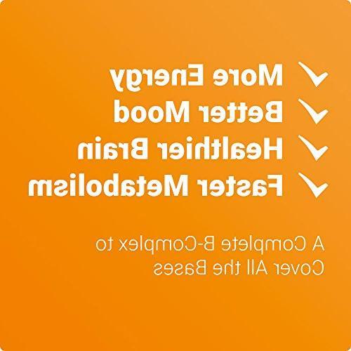All 8 Plus   B with Methyl B12, Folic Acid 400mcg Best Complex Supplement & Women