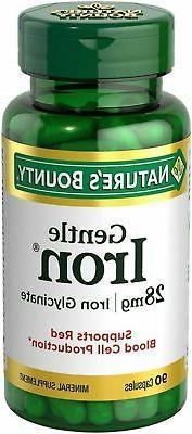 Nature's Bounty Gentle Iron 28 mg 90 Capsules