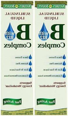 Nature's Bounty Vitamin B Complex Sublingual Liquid, 2 Ounce