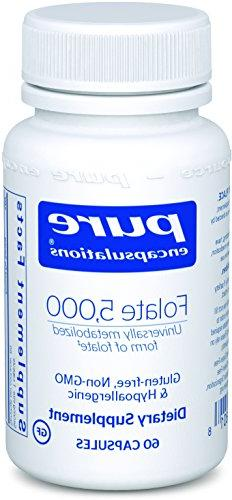 Pure Encapsulations - Folate 5,000 - Activated Vitamin B9 as