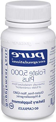Pure Encapsulations - Folate 5,000 Plus - Activated Folate,