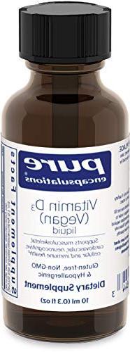 Pure Encapsulations - Vitamin D3  Liquid - Hypoallergenic Su