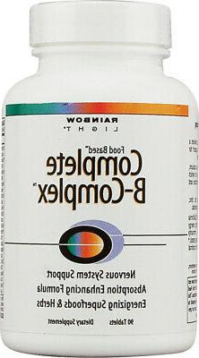 Rainbow Light - Complete B-Complex, 90 Count, Food Based, En