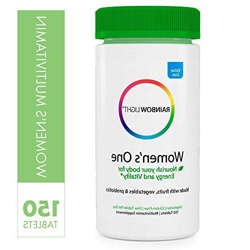 Rainbow Light - Women's One Multivitamin Supports Energy and Daily Vitamin and Supplement, Biotin, Vegetarian -