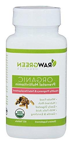 Raw Green Organics - Organic Prenatal Multivitamin - Healthy