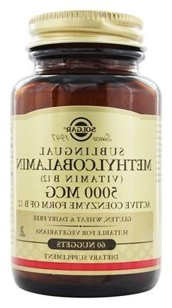 Solgar - Methylcobalamin Vitamin B12 5000 mcg. - 60 Nugget