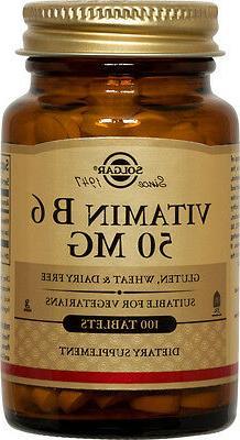 Solgar - Vitamin B6, 50 mg, 100 tablets