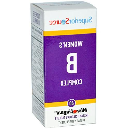 Superior Source, Women's B Complex, MicroLingual, 60 Tablets