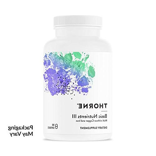 Thorne Research - Basic Nutrients III without Copper and Iro
