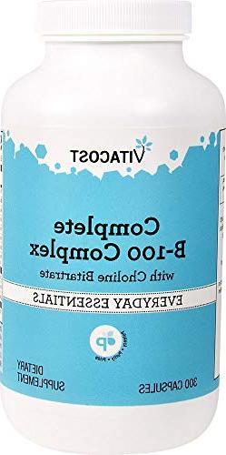 Vitacost B-100 Complex -- 300 Capsules