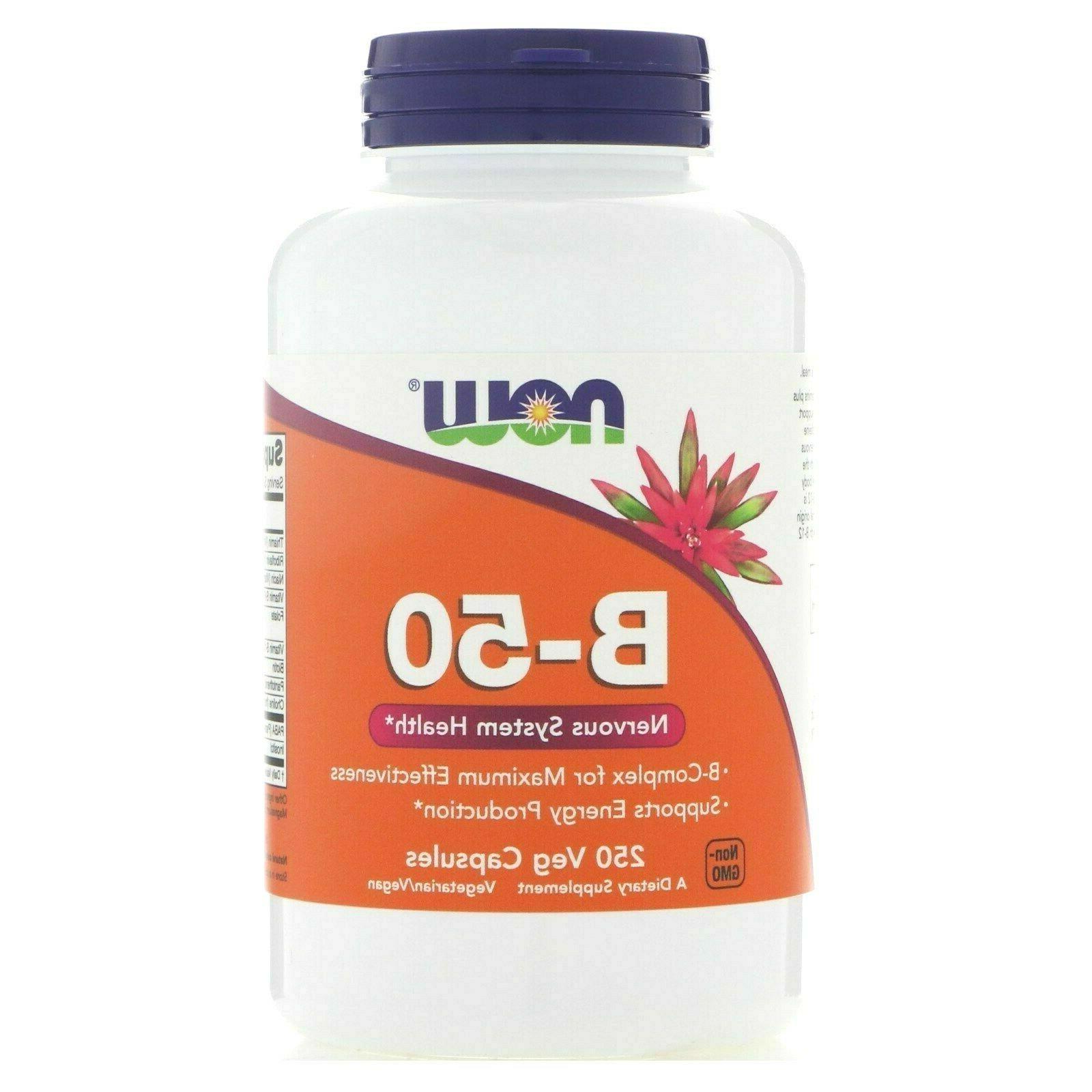 b 50 vitamin b complex 250 veg