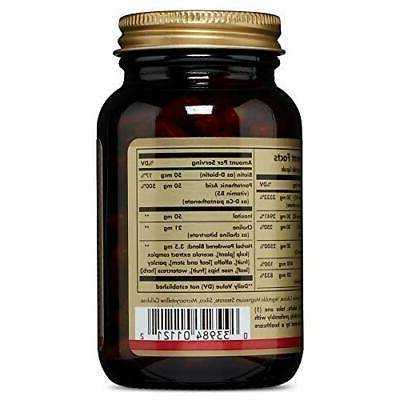 Solgar Metabolism Suitable for 100 Vegetable Capsules