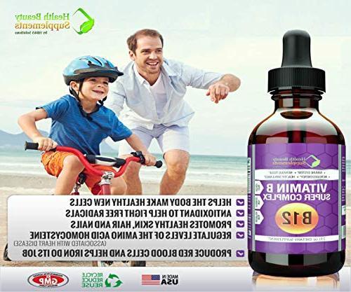   HB&S Solutions Potency Vitamin Complex Women   Kids   B2,B3,B6 & B12   Stress Fatigue mcg   Gluten 2oz Liquid