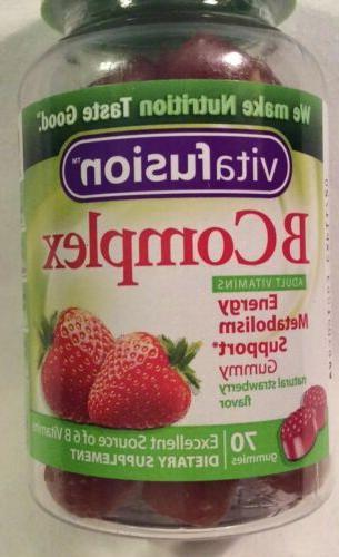 Vitafusion B Vitamin Food Supplement Health Care 70ct