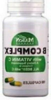 Mason Natural B Complex Plus Vitamin C 100 Tablets