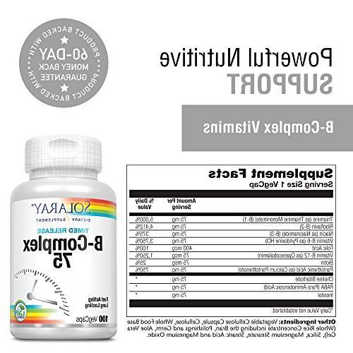 Solaray® | Extended Availability for Skin, Nerves, Immune | 100