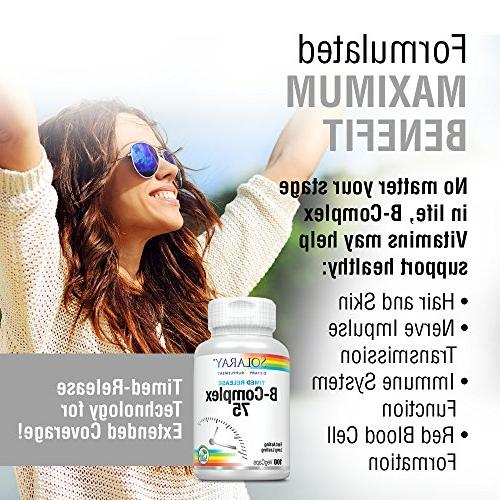 Solaray® Vitamin | Two-Stage Extended Availability Support for Skin, Nerves, Immune 100