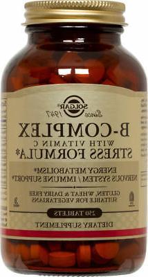 Solgar B-Complex Vitamin C Stress Formula Tablets 250ct