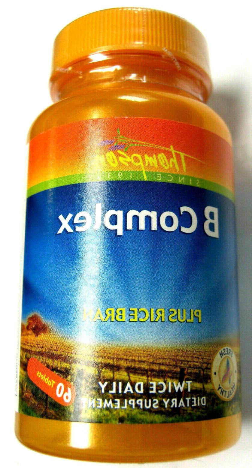 Thompson Vitamin B Complex W/Rice Bran 60 tablets