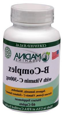 Madina Vitamins B-Complex with Vitamin C  Anti-Stress Vitami