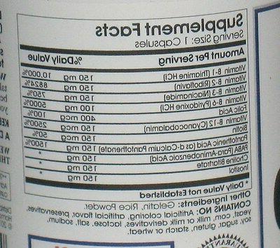 Vitamin Complex 200 Capsules