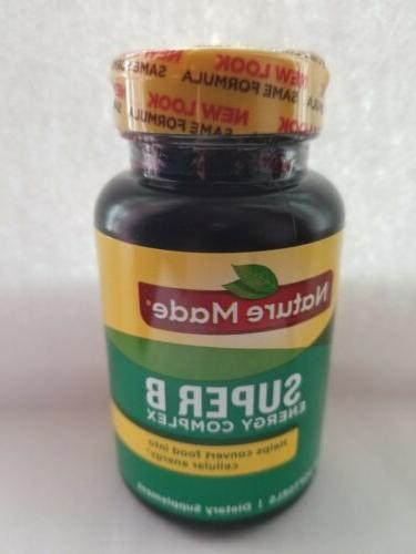 Nature Made Super B Energy Complex Vitamin 60 Tablets softge