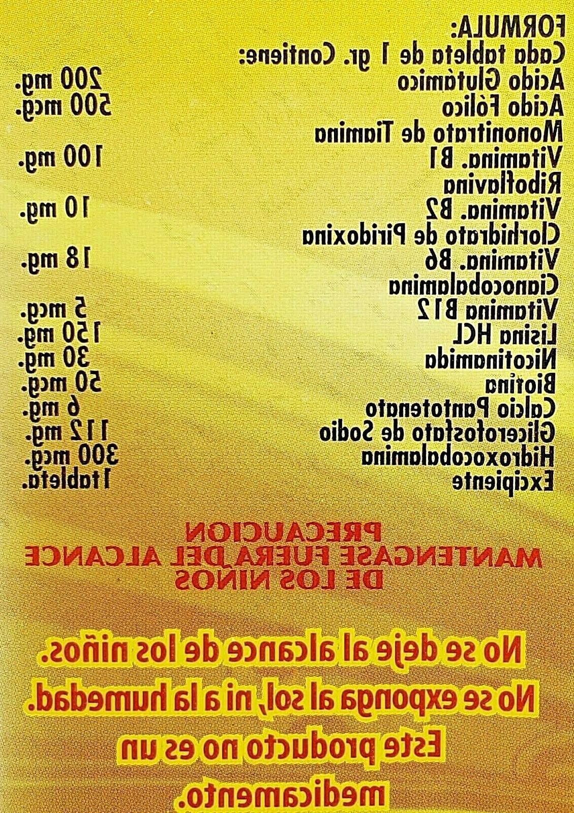 BEDOYECTA 60 TABS B12 COMPLEJO B FOLIC Exp