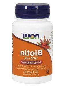 Now Foods Biotin 1000 mcg - 100 Caps 8 Pack