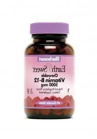 Bluebonnet - Earthsweet Chewable Vitamin B-12 5000 Mcg Raspb