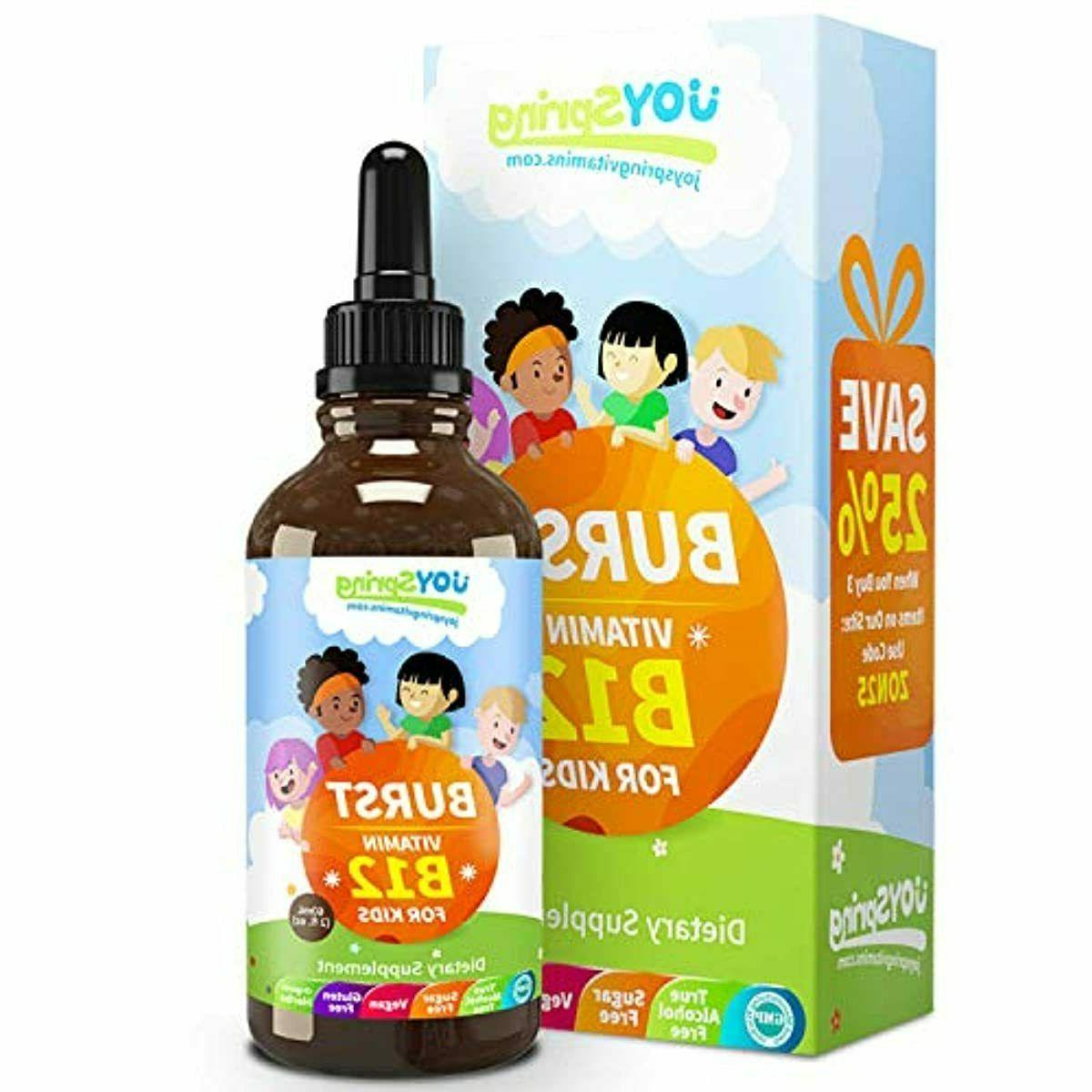 JoySpring 60ml Burst B12 for Kids Tasty Vitamin B Complex Li