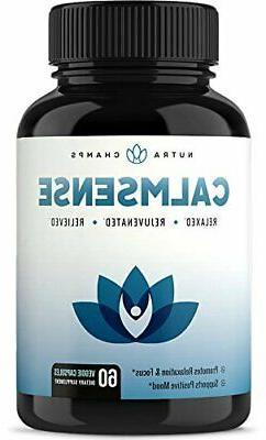 CalmSense Stress Relief Supplement Calming Herbal Blend & Vi