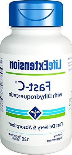 Fast-C with Dihydroquercetin, 120 Tabs by Life Extension